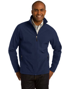 Port Authority Men's Navy Tall Core Soft Shell Jacket, Navy, hi-res