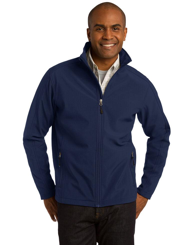 Port Authority Men's Navy Tall Core Softshell Jacket, Navy, hi-res