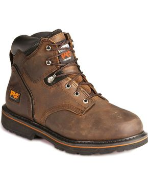 "Timberland Pro Men's 6"" Pit Boss Work Boots, Brown, hi-res"