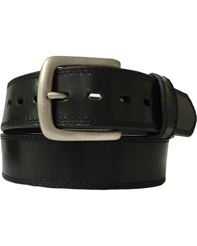 Berne Men's Oily Pull-Up Leather Belt , Black, hi-res