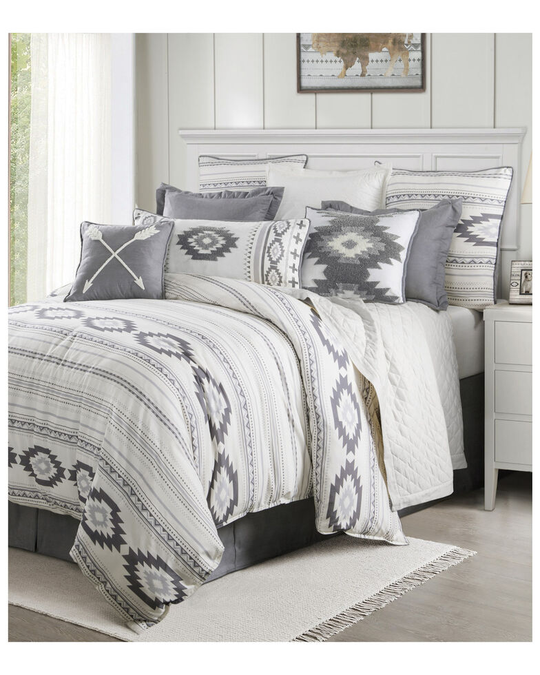 HiEnd Accents Free Spirit Super Queen Bedding Set, Grey, hi-res