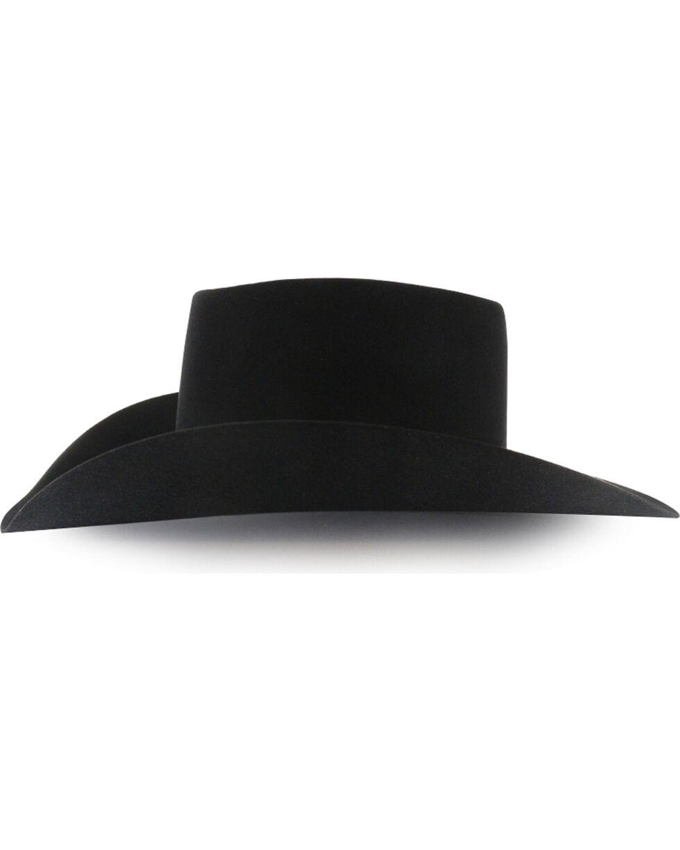 Rodeo King Men's Brick 5X Felt Cowboy Hat, Black, hi-res