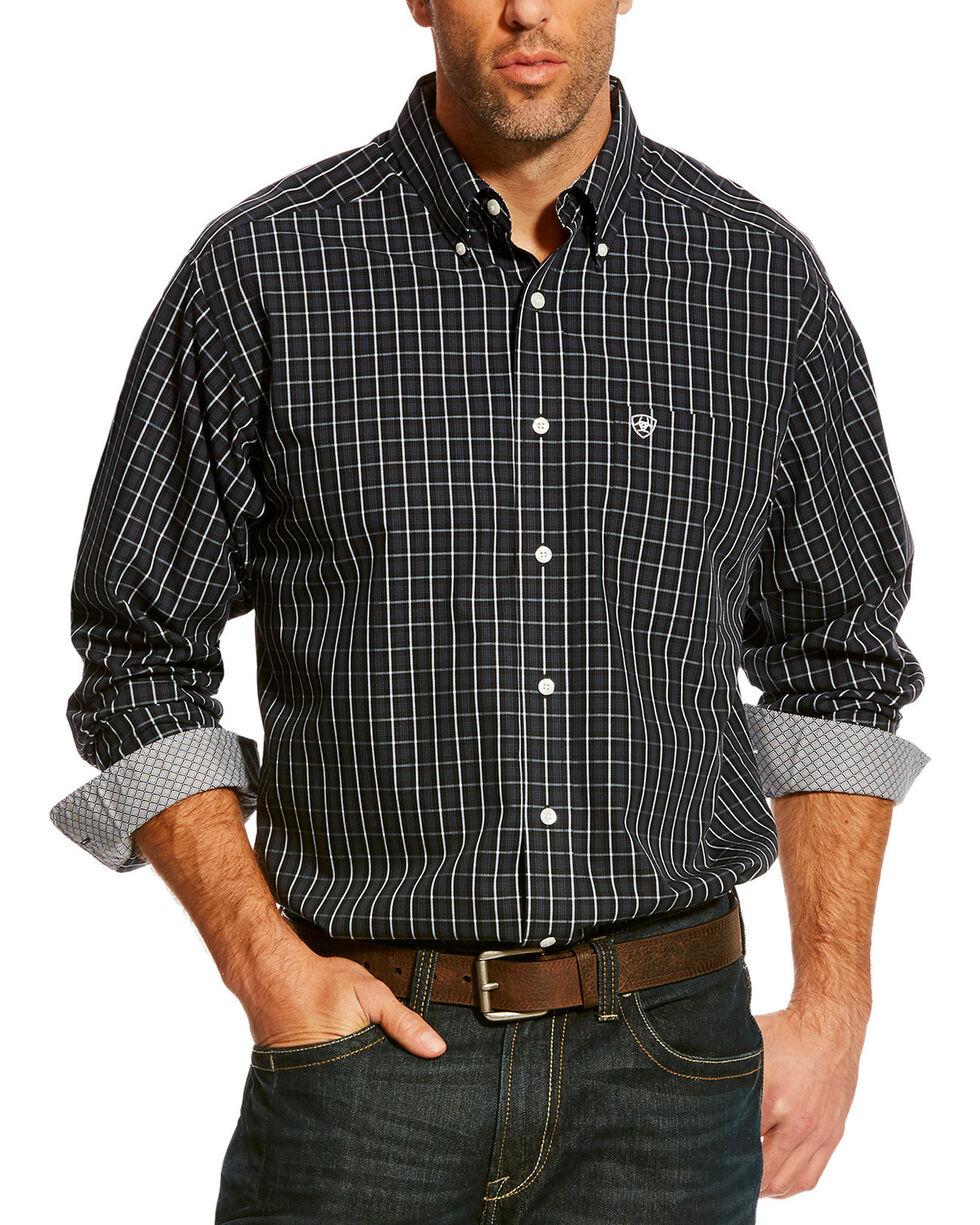Ariat Men's Black Zellar Plaid Shirt , Black, hi-res