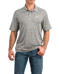 Cinch Men's Arena Flex Short Sleeve Polo Shirt , Heather Grey, hi-res