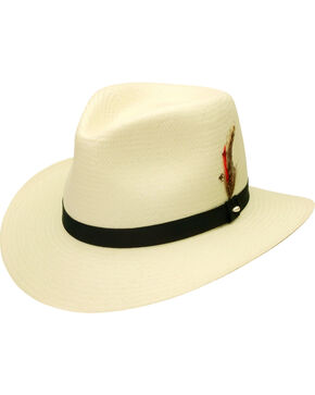 Black Creek Toyo Straw Ivory Men's Hat, Ivory, hi-res