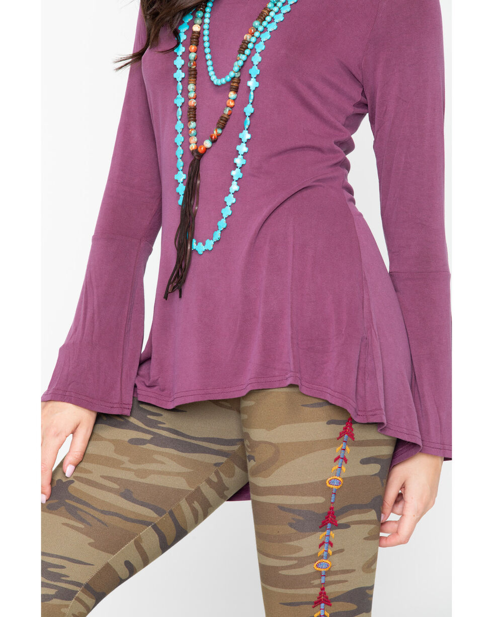 Ariat Women's Gypsy Top Beatroute Shirt , Mauve, hi-res