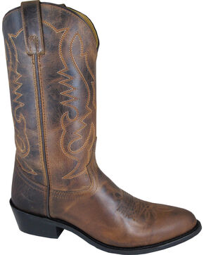 Smoky Mountain Men's Brown Denver Cowboy Boots - Medium Toe, Brown, hi-res