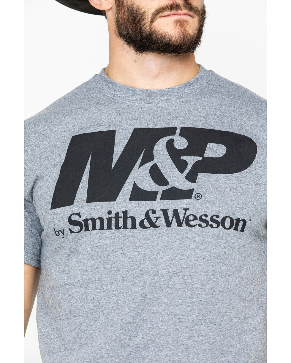 Smith & Wesson Men's M&P Graphic Logo T-Shirt , Grey, hi-res