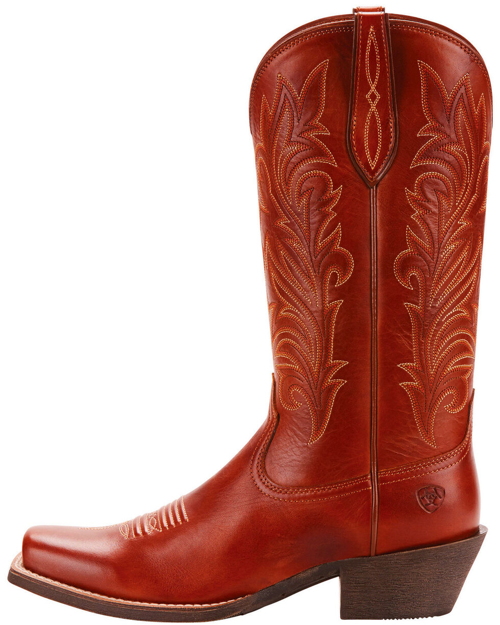 Ariat Women's Brown Round Up Stockyards Boots - Square Toe, Brown, hi-res
