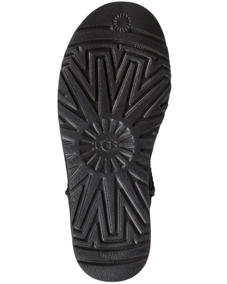 UGG Women's Classic Short Sparkle Boots - Round Toe, Black, hi-res