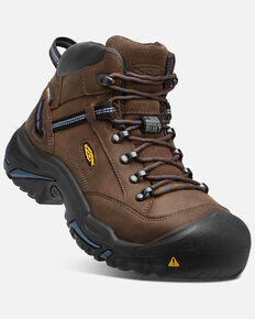Keen Men's Braddock Waterproof Work Boots - Steel Toe, Brown, hi-res