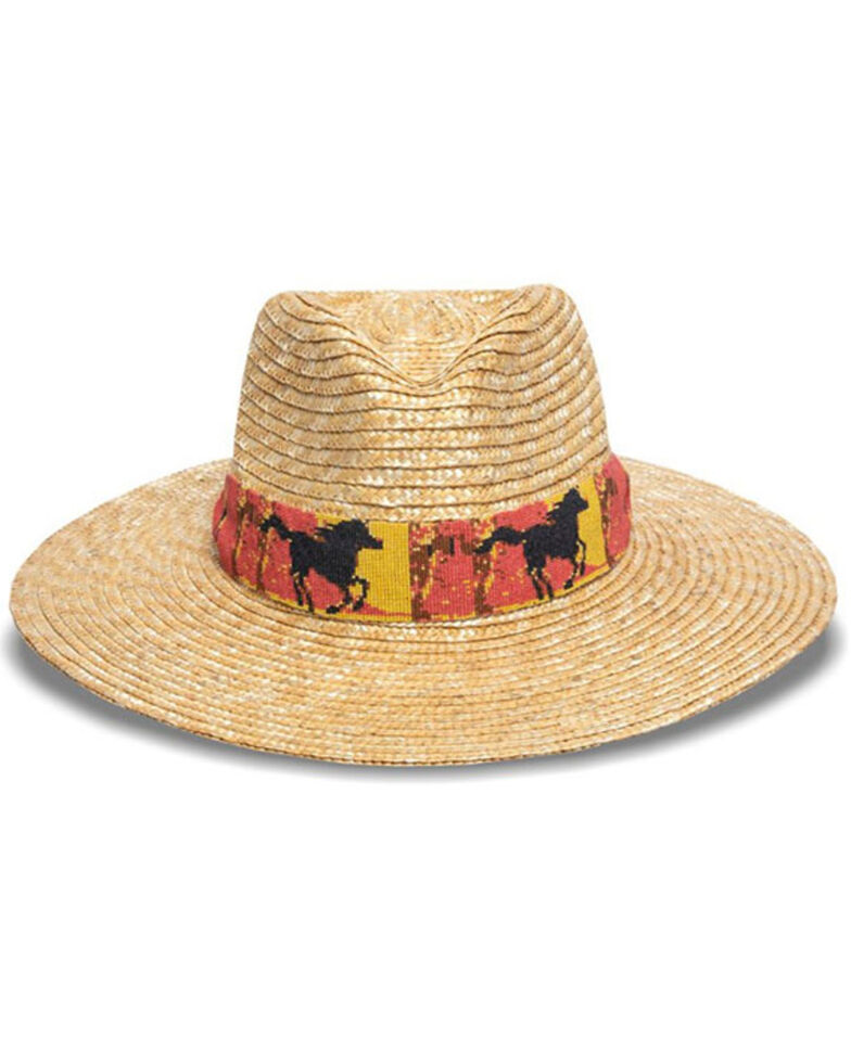 Nikki Beach Women's Cheval Milan Fedora Straw Hat , Natural, hi-res