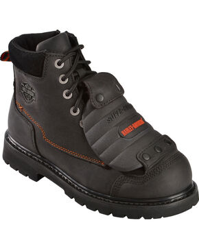 Harley-Davidson Men's Steel Toe Jake Motorcycle Boots, Black, hi-res