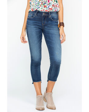 Silver Women's Avery Cropped Jeans - Skinny, Indigo, hi-res