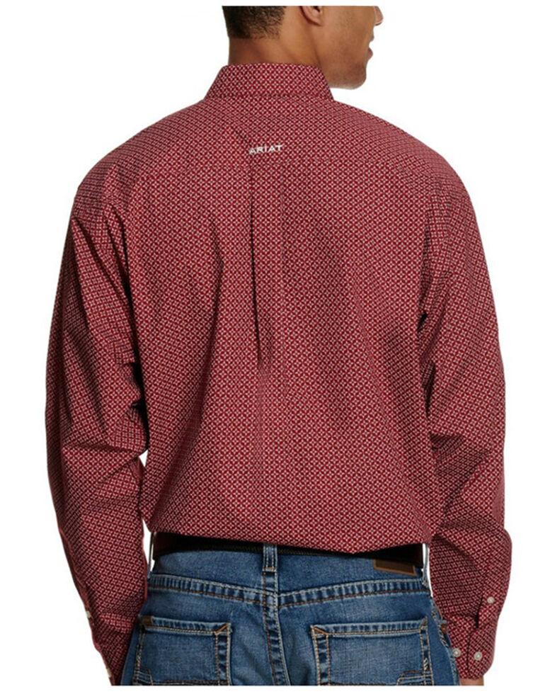 Ariat Men's Ferris Small Geo Print Long Sleeve Button-Down Western Shirt - Tall, Black, hi-res