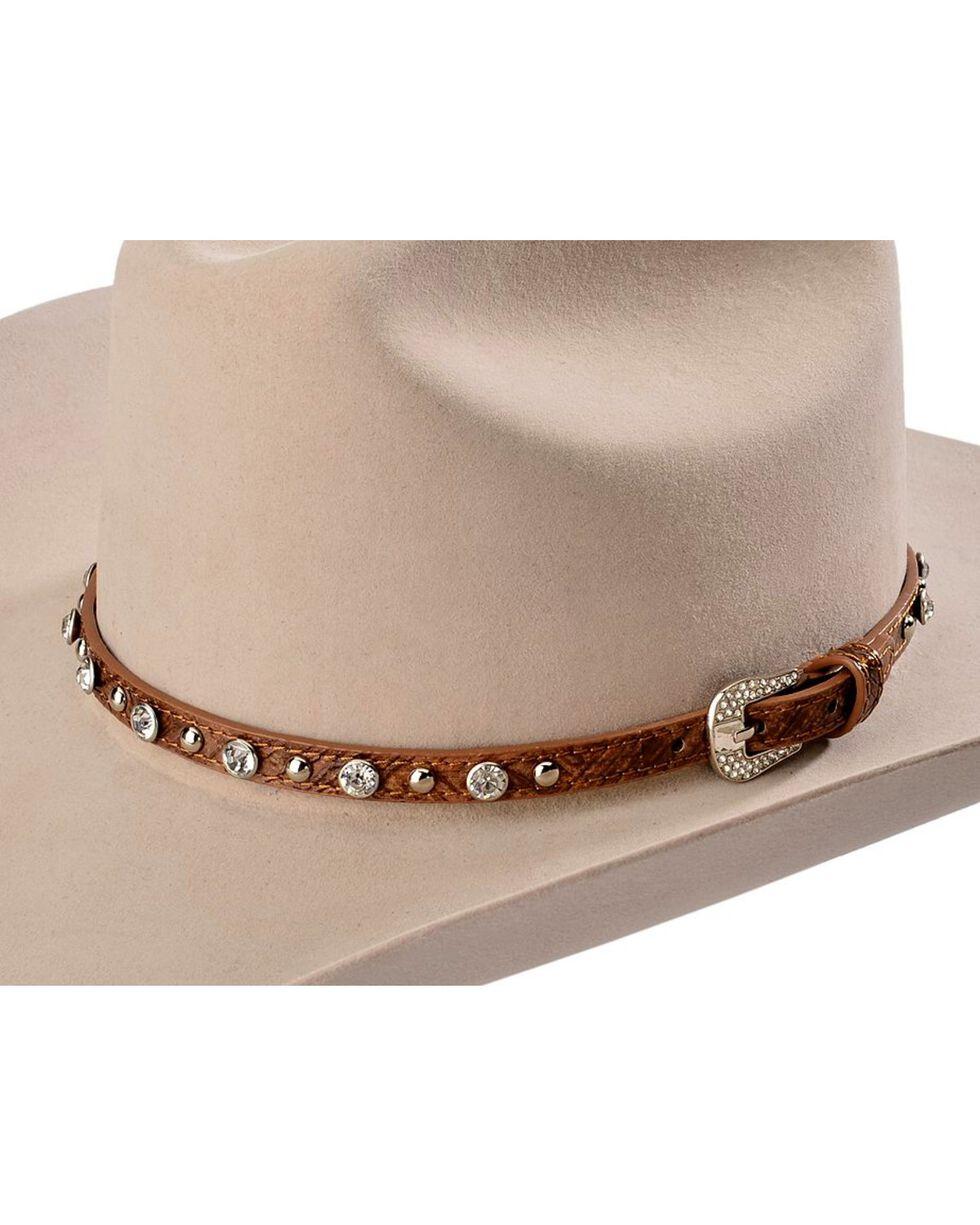 Cody James® Rhinestone Studded Hatband, Brown, hi-res