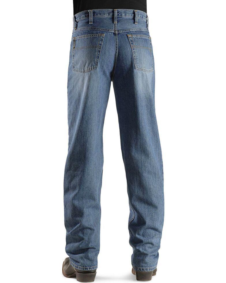 Cinch Men's Black Label Relaxed Fit Stonewash Jeans, Midstone, hi-res