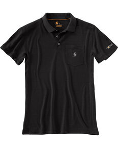 Carhartt Men's Force Extremes™ Polo Work Shirt, Black, hi-res