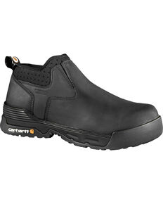 "Carhartt Force Men's 4"" Black Waterproof Work Shoes - Composite Toe, Black, hi-res"