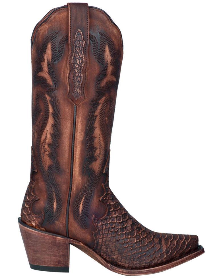 Dan Post Women's Lauryn Western Boots - Snip Toe, Brown, hi-res