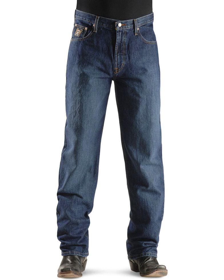 Cinch Men's Black Label Relaxed Fit Stonewash Jeans, Dark Stone, hi-res