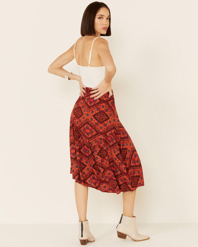 Shyanne Women's Chili Tile Midi Skirt, Chilli, hi-res