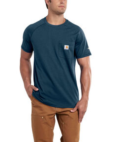 Carhartt Men's Delmont Short Sleeve T-Shirt - Big , Light Blue, hi-res