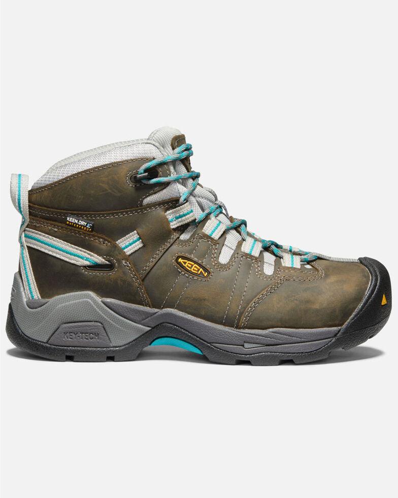 Keen Women's Detroit XT Waterproof Work Boots - Steel Toe, Black, hi-res