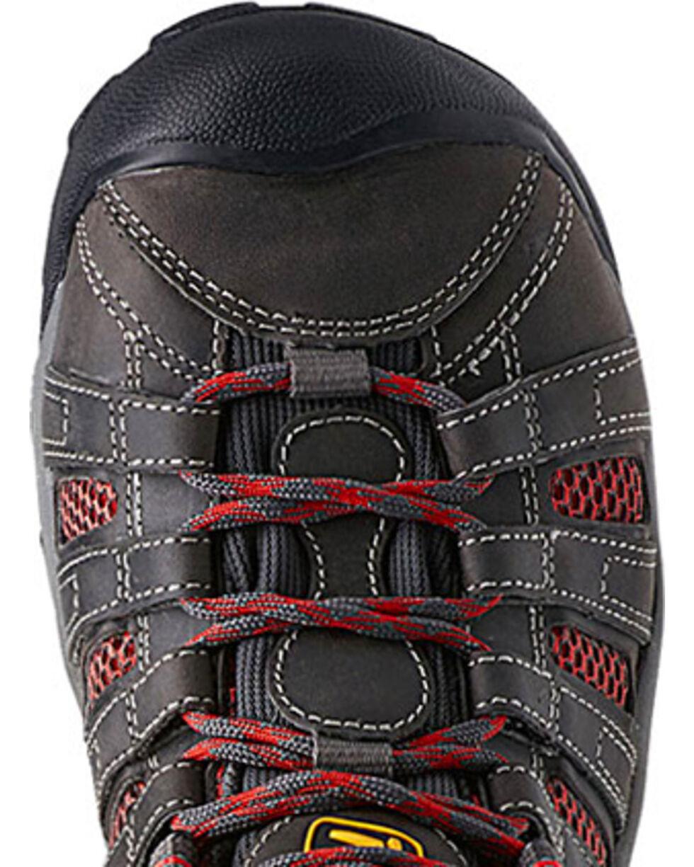 Keen Women's Flint Low Steel Toe Work Shoes, Grey, hi-res