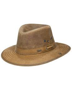 Outback Unisex Oilskin River Guide Hat, Tan, hi-res