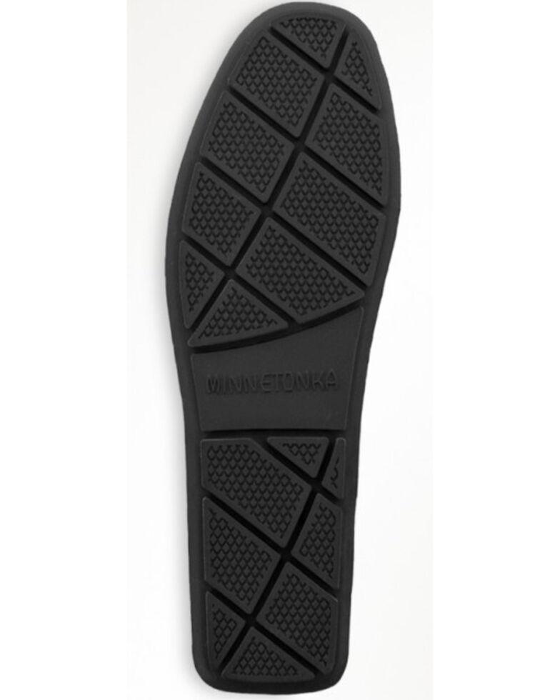 Minnetonka Men's Sheepskin Moose Slippers, Black, hi-res