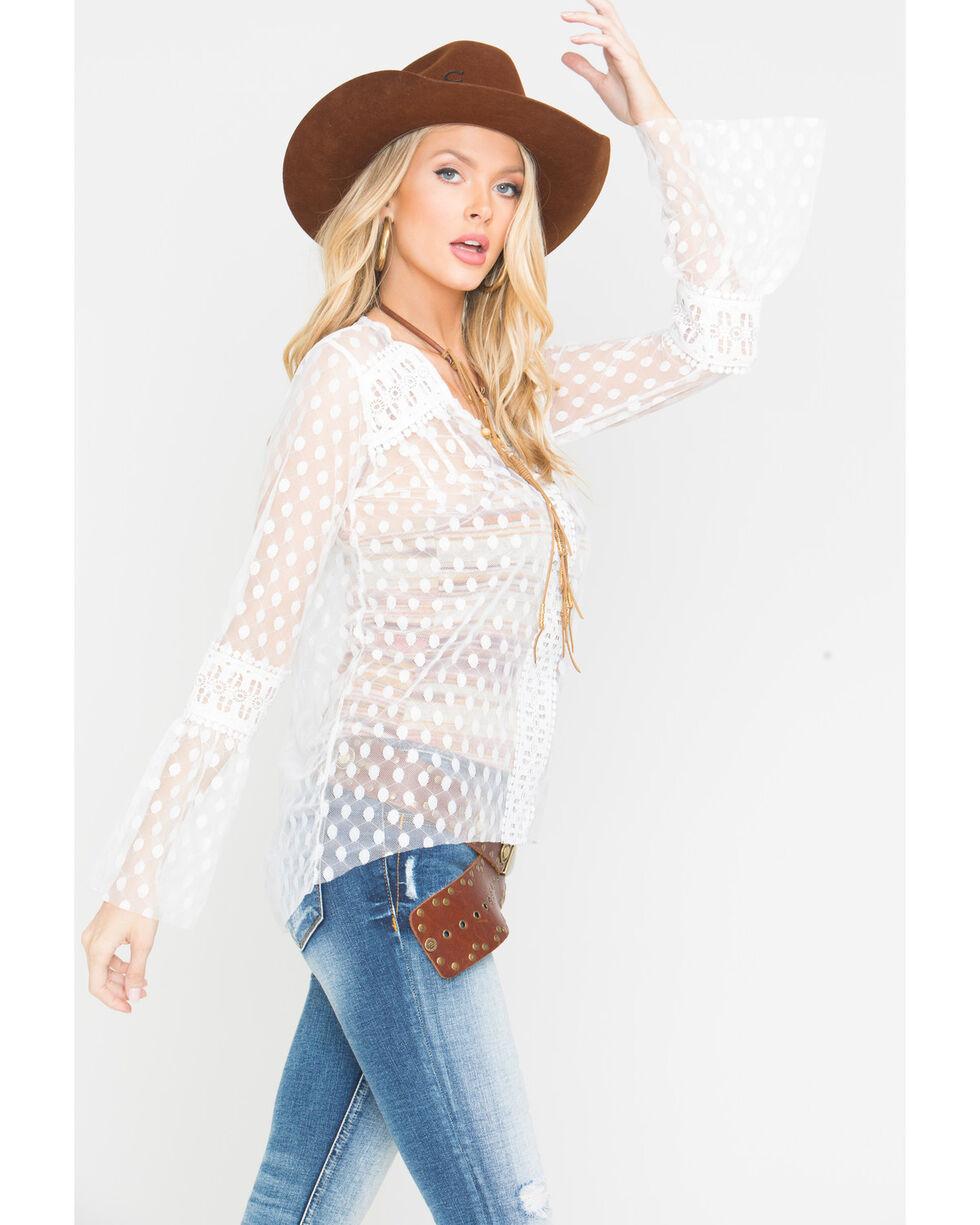 Angel Premium Women's Cream RoseAnne Top , Cream, hi-res