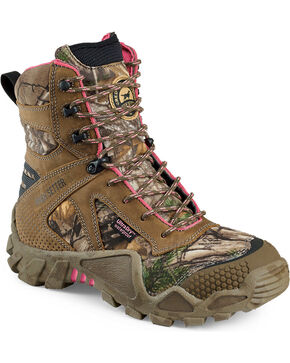 Red Wing Irish Setter Women's Vaprtrek Realtree Xtra Waterproof Boots , Camouflage, hi-res