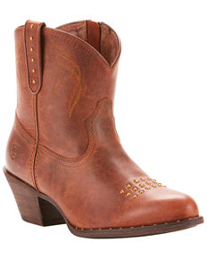 Ariat Women's Dakota Sassy Booties - Round Toe, Brown, hi-res