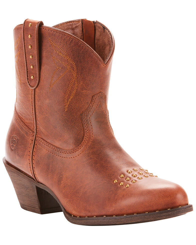 Ariat Women's Dakota Sassy Booties - Round Toe, Brown, hi-res