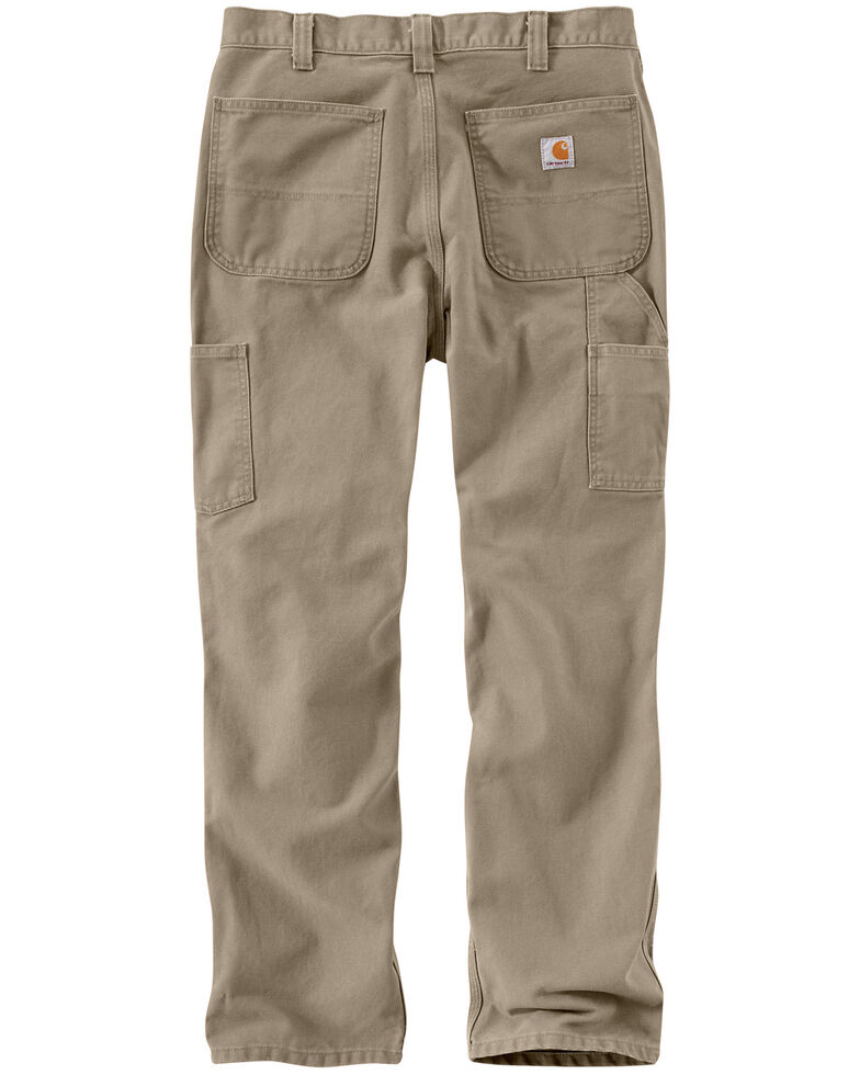Carhartt Men's Relaxed-Fit Washed Duck Dungaree Work Pants, Sand, hi-res