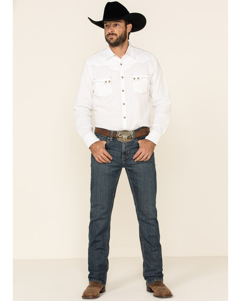 Cody James Men's High Roller Mid Tier Medium Wash Stretch Slim Straight Jeans , Blue, hi-res