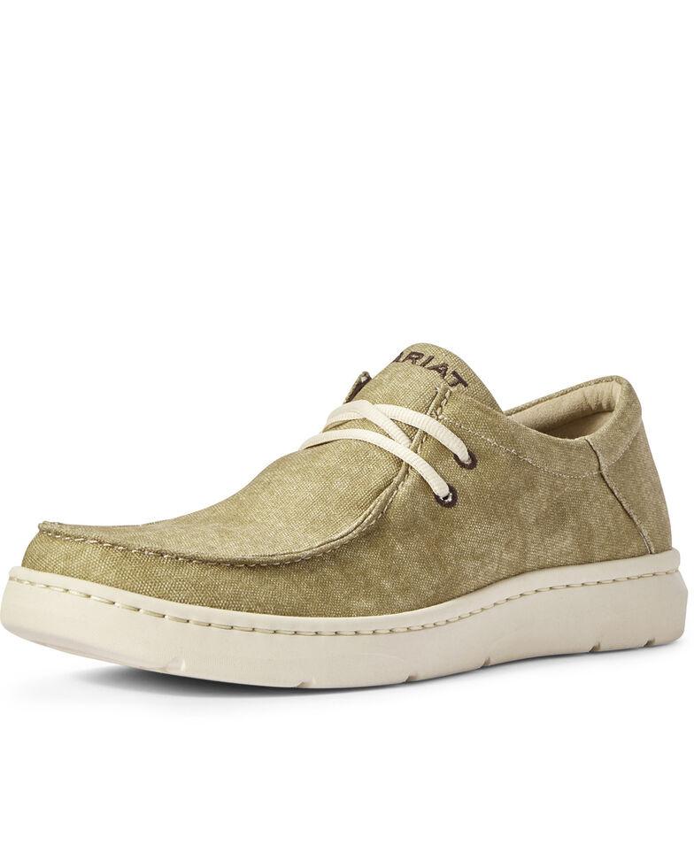 Ariat Men's Hilo Tumbleweed Lace-Up Shoes - Moc Toe, Brown, hi-res