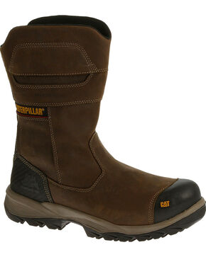 CAT Men's Jenka Waterproof Composite Toe Work Boots, Grey, hi-res