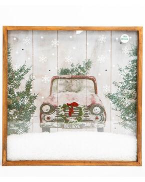 BB Ranch Christmas LED Shadow Box, White, hi-res