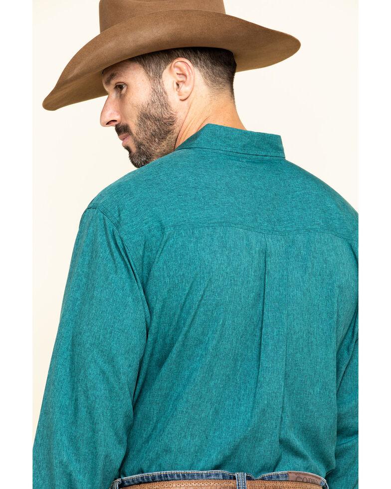 Cinch Men's Arena Flex Solid Green Long Sleeve Western Shirt , Green, hi-res