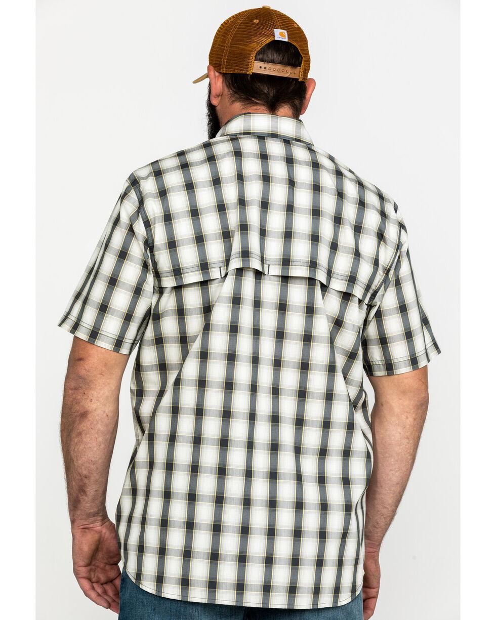 Carhartt Men's Solid Rugged Flex Rigby Short Sleeve Work Shirt - Tall , Grey, hi-res