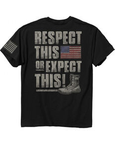 Buck Wear Men's Respect The Flag T-Shirt, Black, hi-res