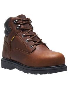 Wolverine Men's Farmhand Waterproof Work Boots - Steel Toe, Russett, hi-res