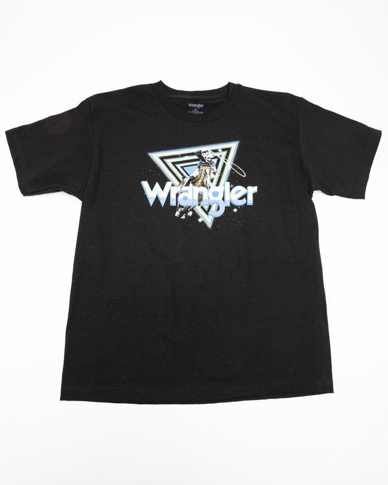 Wrangler Boys' Logo Space Graphic T-Shirt , Black, hi-res