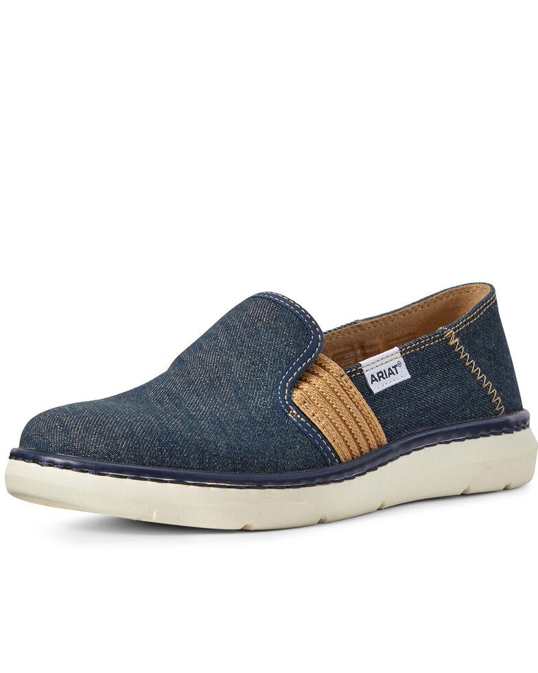 Ariat Women's Ryder Slip-On Denim Shoes - Round Toe, Blue, hi-res