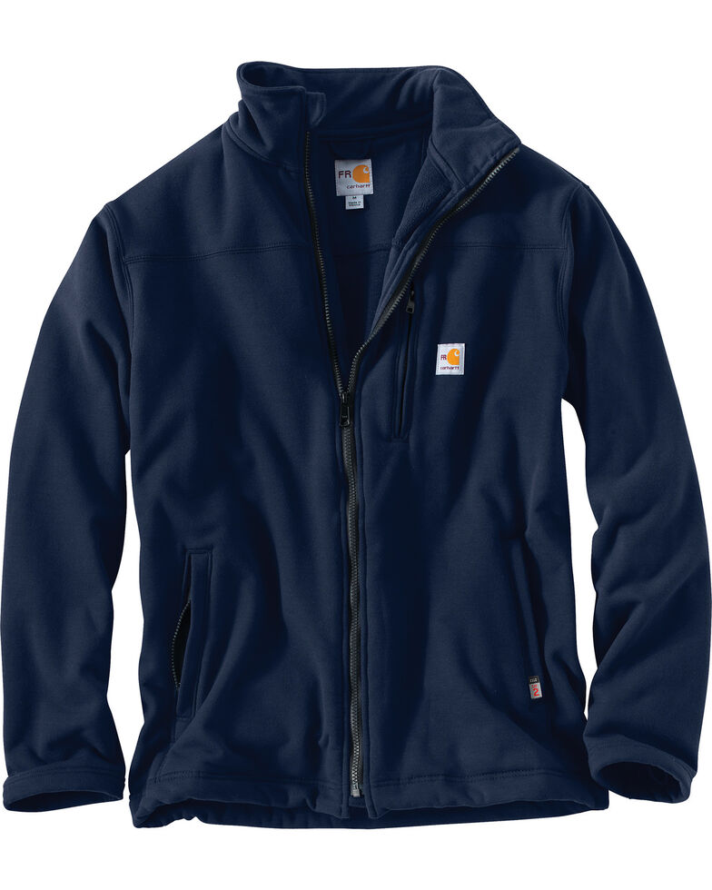 Carhartt Men's Flame-Resistant Portage Work Jacket - Big, Navy, hi-res