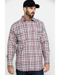 Ariat Men's Carbon FR Classic Plaid Long Sleeve Work Shirt , White, hi-res
