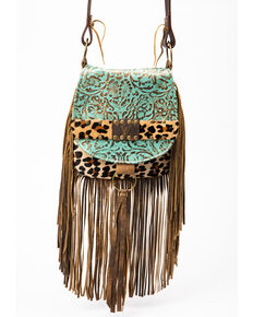 Keep It Gypsy Women's Turquoise Paisley Crossbody Bag, Turquoise, hi-res