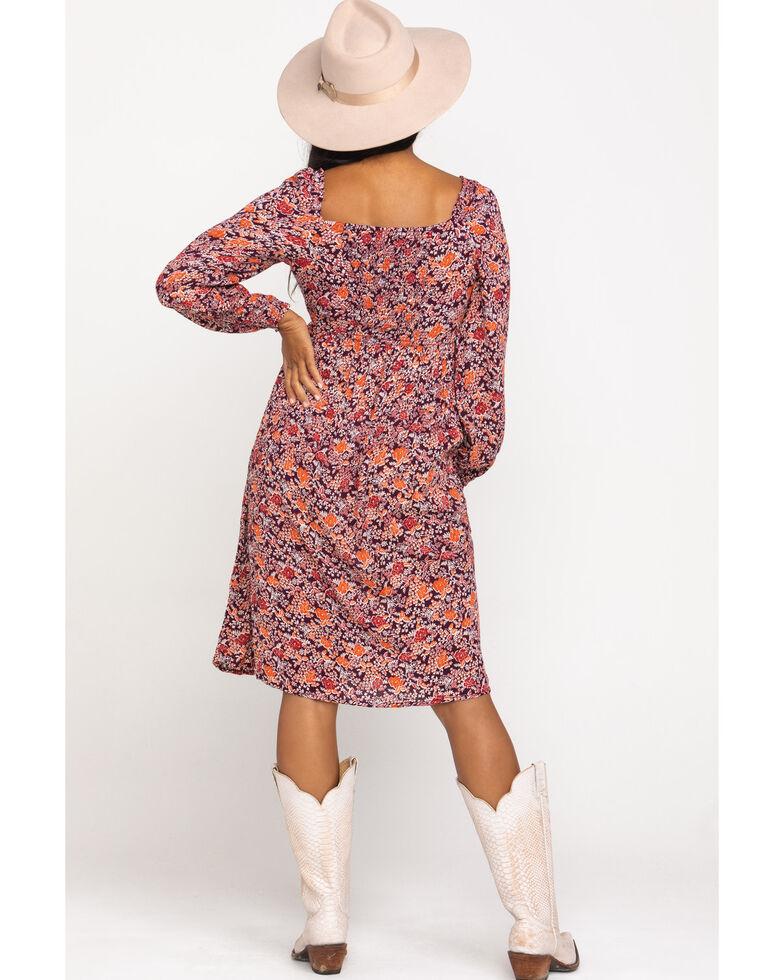 Patrons of Peace Women's Floral Print Slit Midi Dress, , hi-res